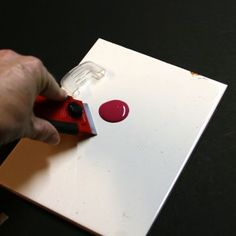 Tile and Scrapper for Painting | My Little Wood Shop