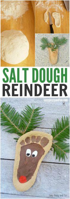Cute Salt Dough Reindeer Ornament