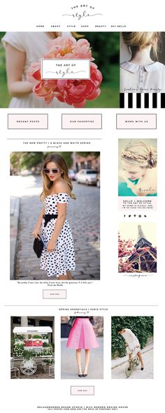 Style and fashion website layout