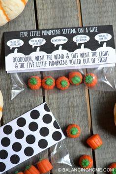 Five Little Pumpkins Sitting on a Gate Halloween Printable   Balancing Home