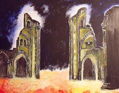 Glastonbury abbey by Ivor