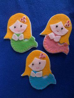 Little mermaid brooch - felt mermaid. €3,00, via Etsy.