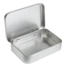 Survival Kit Tin Higen Lid Small Empty Silver Flip Metal Storage Box Case Organizer For Money Coin Candy Keys