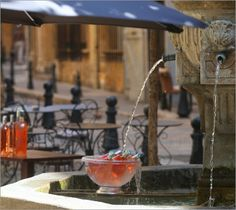 Wine cooling french style - seen in Provence / Avignon
