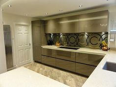 Diane Berry Kitchens - Client Kitchens: Mr & Mrs Hampson - Alno highline beige grey lacquered kitchen