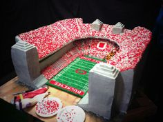 This is a 350lb Replica of Ohio State Stadium in a Cake Form!!! #delicious #party #graduation