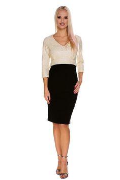 Elegante abito che sembra una gonna con un top. - un bel top tessuto  jacquard 67c5a236930