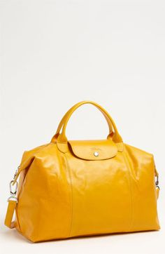 Longchamp 'Le Pliage Cuir' Leather Handbag available at Nordstrom