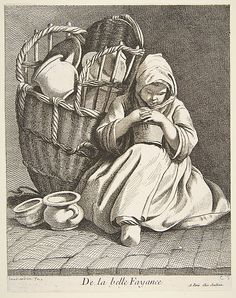 Pottery Peddler Anne Claude Philippe de Tubières, Comte de Caylus (French, Paris 1692–1765 Paris)