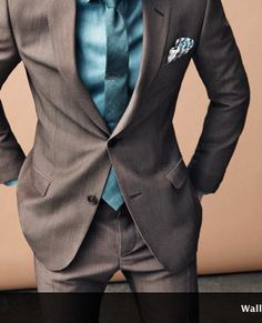 Suits for Paul--love the combination of colors.