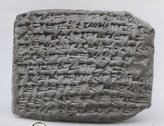 """peashooter85: """" Ancient Babylonian IOU, Written in cuneiform script which was common to Mesopotamia (Middle East), this clay tablet is a promissory note entitling the bearer to a payment in silver and is dated to 543 BC. This artifact is currently in..."""