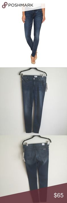 Hudson Krista Skinny Stretch Jeans Hudson Krista skinny stretch jeans in a medium blue wash. These are amazingly soft.  Fit tts. Hudson Jeans Jeans Skinny