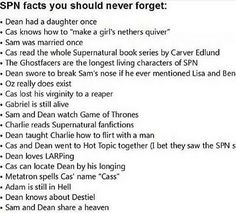 Supernatural Facts
