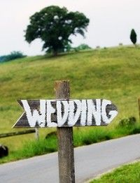 Gotta get people out there some how!! outdoor country wedding ideas