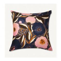 Rosarium Cushion Cover in dark grey, yellow, dark blue – Bolt of Cloth Cushions To Make, Knitted Cushions, Scandinavian Fabric, Scandinavian Design, Marimekko Fabric, Haida Art, African Textiles, Japanese Patterns, Textile Patterns