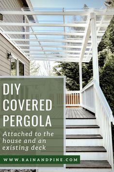 DIY Clear Corrugated Covered Pergola Attached to the House and an Existing Deck .DIY Clear Corrugated Covered Pergola Attached to the House and an Existing Deck – Rain and Amazing Covered Deck Design Ideas Deck With Pergola, Covered Pergola, Backyard Pergola, Pergola Shade, Pergola Roof, Covered Patios, Modern Pergola, Cheap Pergola, Outdoor Pergola
