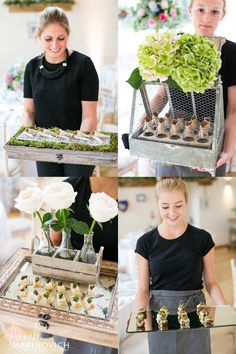Kalm Kitchen's creative canapés from a summer wedding at Millbridge Court. Planning, styling and coordination by Zouch & Lamare. Photography by Anneli Marinovich