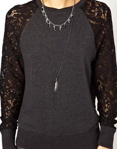 Image result for sweatshirts with lace