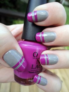 """ I LIKE… …OMW TO THE 99CENT STORE FOR SCOTCH TAPE "" notanothernailblog: "" I wanted to jazz up that wonderful new OPI I was wearing so I tried Nailside's tape manicure. I adore pretty much every tape..."