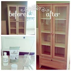 before_after_ikea Miss Mustard Seeds, Milk Paint, China Cabinet, Painted Furniture, Cottage, Diy, House, Painting, Home Decor