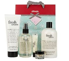 Calling all philosophy girls - for the holidays, here's the fresh cream 6 piece collection with gift bag!