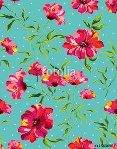 ベクター: The repeat design of an floral pattern点
