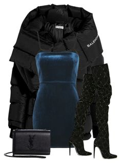 """""""Untitled #318"""" by chanelkillla ❤ liked on Polyvore featuring Balenciaga, Topshop, Yves Saint Laurent and Balmain"""