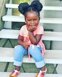 30 Cute and Easy Natural Hairstyle Ideas For Toddlers - Peinados Para Todos Black Little Girls, Cute Black Babies, Beautiful Black Babies, Cute Babies, Brown Babies, Black Kids, Baby Girl Hairstyles, Black Girls Hairstyles, Cute Hairstyles