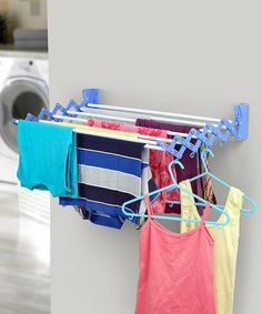 Take a look at this Blue Large Wall-Mounted Drying Rack today! Take a look at this Blue Large Wall-Mounted Drying Rack today! Pink Laundry Rooms, Laundry Room Storage, Storage Spaces, Wall Mounted Drying Rack, Drying Racks, Home Storage Solutions, Tiny Living, Housekeeping, Home Improvement