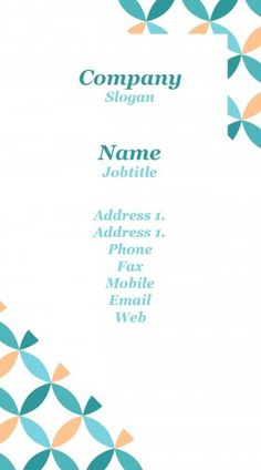 Borders and shapes business card template