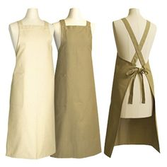 Banquet Apron with Crossover Ties