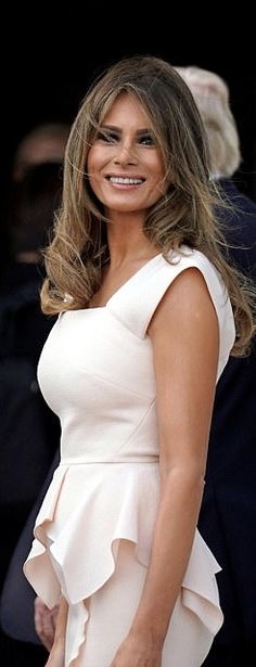 First Lady Melania Trump in Roland Mouret