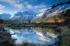 Fall in Eagle River Valley, Alaska.  We used to live in Eagle River.  Beautiful place to live.