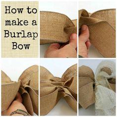 Making a Burlap Bow - decorate for the party & make some wreaths & centerpieces!