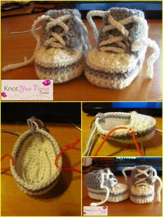 free crochet newborn converse pattern