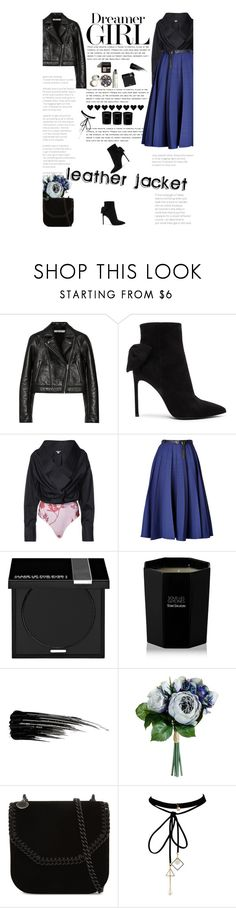 """""""Cool-Girl Style: Leather Jackets"""" by amimcqueen ❤ liked on Polyvore featuring T By Alexander Wang, Yves Saint Laurent, Johanna Ortiz, Vionnet, MAKE UP FOR EVER, Tom Daxon, Urban Decay, STELLA McCARTNEY and WithChic"""