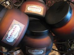 Traviata candles by Aspen Bay~mmm...fall is just around the corner