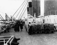 Passengers take a stroll on Boat Deck