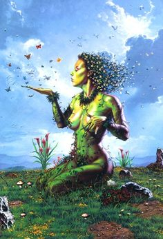 Gaia: mother of all things; earth, sea, mountains, and forests; becomes warmer as the weeks lead into spring and soil becomes more fertile