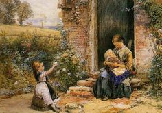 British Paintings: Myles Birket Foster - The Little Sister