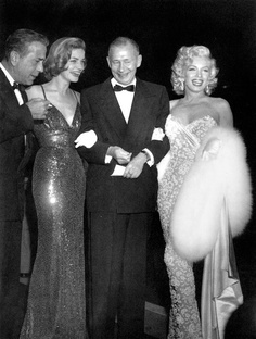 Bogart & Bacall, Producer Nunnally Johnson, and Marilyn on their way to premiere How to Marry a Millionaire (1953)