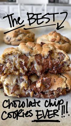 Cookie Desserts, Just Desserts, Delicious Desserts, Dessert Recipes, Yummy Food, Dessert Bars, Chocolate Chip Recipes, Chocolate Chips, Love Chocolate