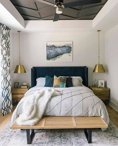 Modern and Chic Bedroom Design and Decoration Ideas Part home design ideas; home design ideas home designs home designs ideas; bedroom design tips; Teenage Room Decor, Bedroom Colors, Home Decor Bedroom, Bedroom Brown, Bedroom Night, Decor Room, Bedroom Interiors, Dark Wood Bedroom, Condo Bedroom