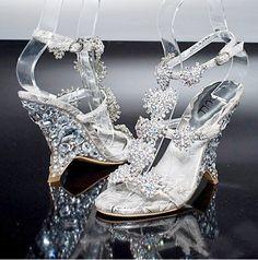 Miu-Miu inspired crystal wedge prom shoe wedding shoes