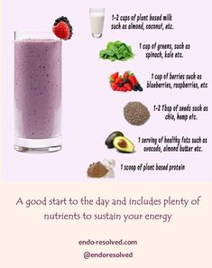 When you don't feel like cooking and you are too tired or in too much pain because of #endometriosis you can always make up a smoothie to be able to get your vital nutrients. Follow the link for more healing smoothie recipes Keto Smoothie Recipes, Healthy Smoothies, Healthy Drinks, Healthy Snacks, Healthy Recipes, Green Smoothies, Detox Smoothies, Healthy Juices, Shake Recipes