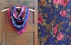 Floral foulard / écharpe Boho / écharpe par littleedenvintage, $17.00