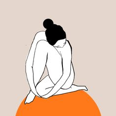 Beautiful illustrations celebrate the female form through simple lines