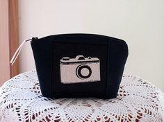 Clutch Cosmetic Bag  Purse Retro Camera by Antiquebasketlady, $12.00 #teamsellit