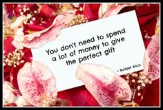 Gift-giving isn't expensive