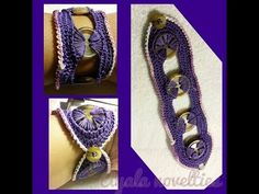 How To - Make An Awesome Crochet Button Bracelet - YouTube